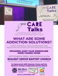 CARE Talks: What Are Some Addiction Solutions? @ Walnut Grove Baptist Church