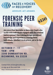 FAVOR Forensic Peer Training @ The McShin Foundation