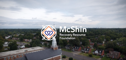 aerial view of the mcshin foundation with logo
