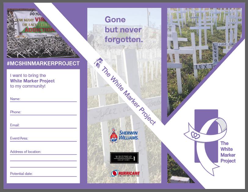 White Marker Brochure Cover