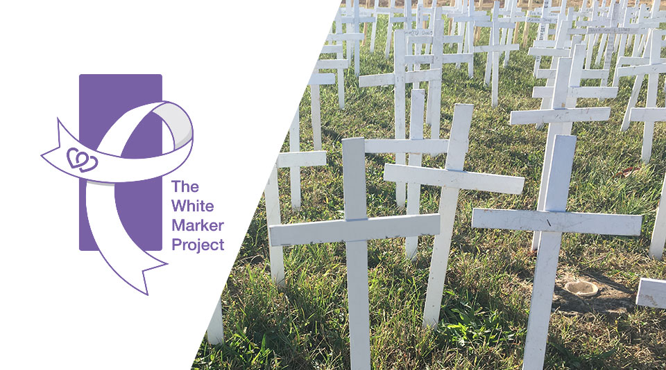 banner white crosses with logo